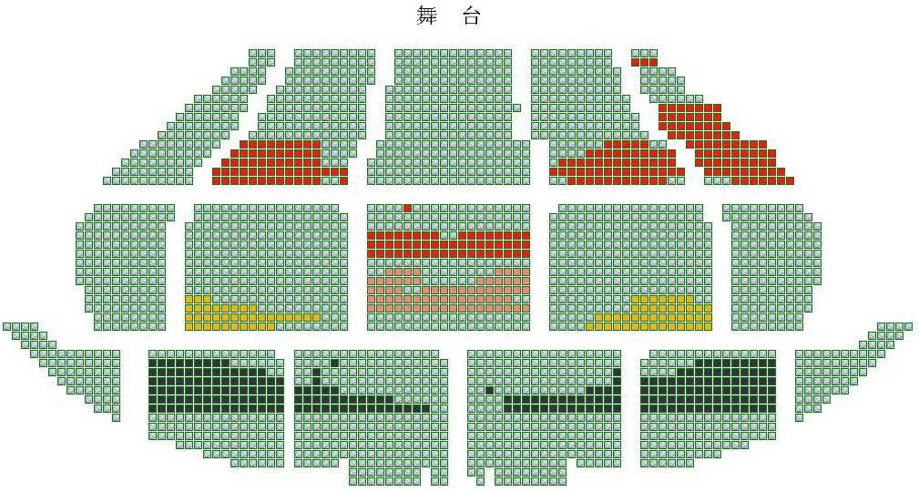 北京展览馆剧场座位图