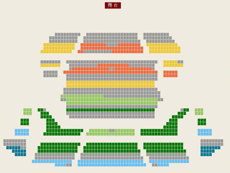 保利剧院座位图