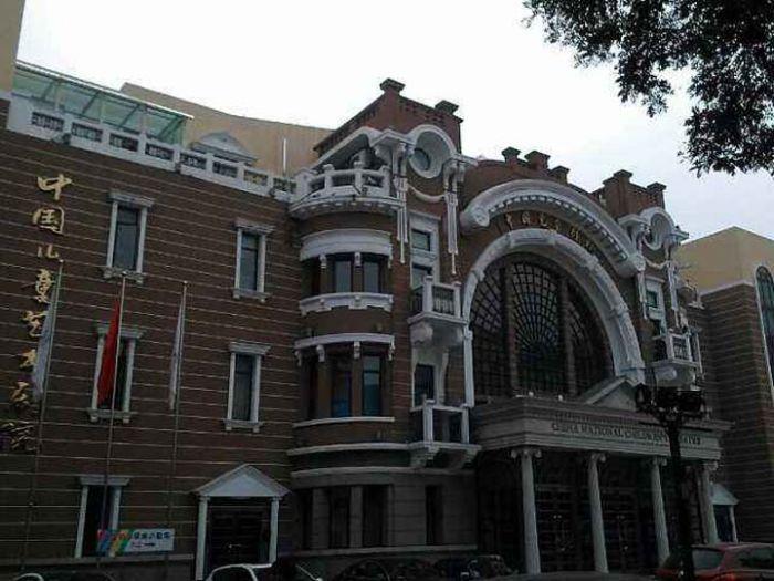 中国儿童艺术剧院外部侧面图