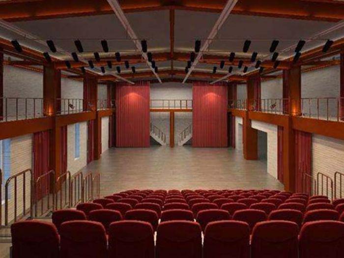 朝阳剧场内部座位照