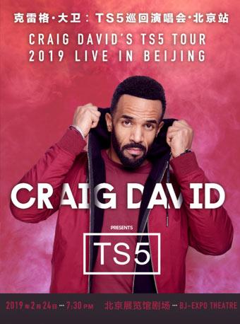 2019克雷格大卫演唱会门票_2月24日克雷格大卫TS5巡回北京演唱会门票