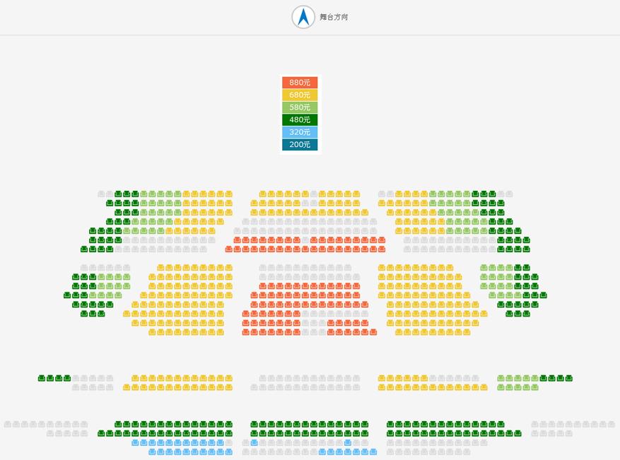 2019国家大剧院国际戏剧季:沙溢、胡可领衔主演美国同名经典小说改编话剧《革命之路》座位图