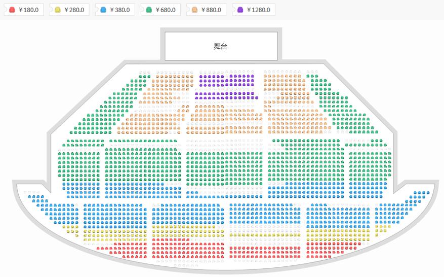 QUEEN REAL TRIBUTE皇后致敬乐队《波西米亚狂想曲》世界巡回演唱会北京站座位图