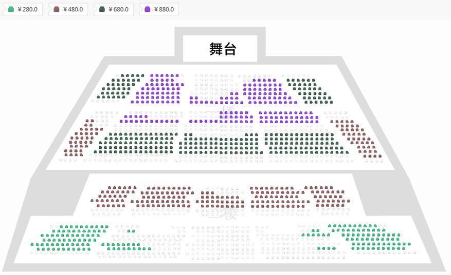 2019夏川里美巡回演唱会北京站座位图