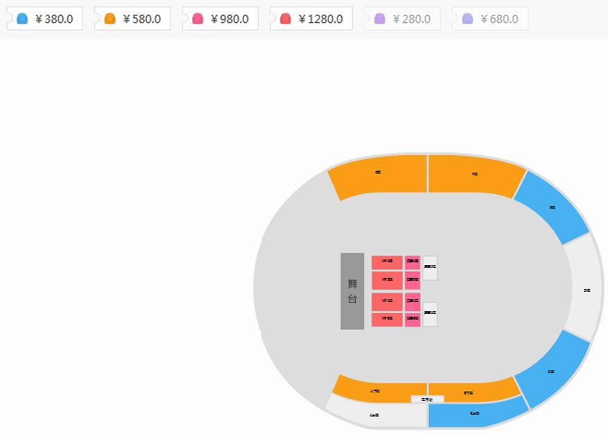 """王力宏""""龍的傳人2060""""世界巡回演唱會貴陽站座位圖"""
