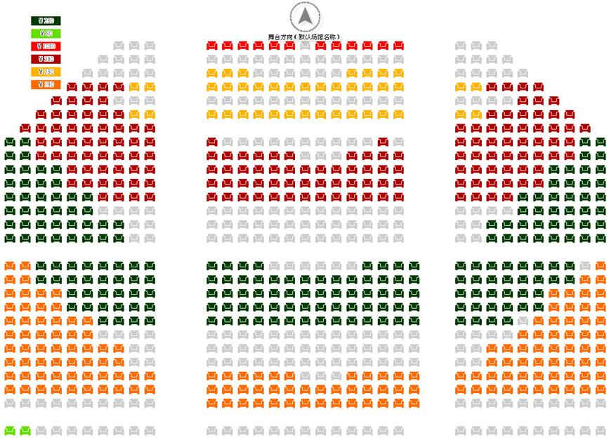 開心麻花爆笑舞臺劇三戲賀歲第二發《瞎畫藝術家》座位圖