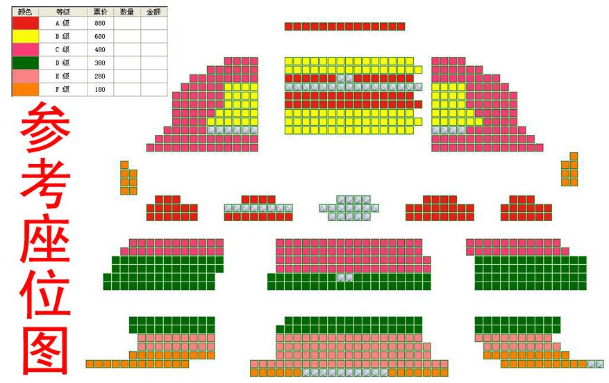 俄罗斯芭蕾国家剧院芭蕾舞《天鹅湖》座位图